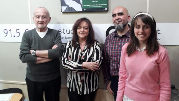 L'equip del programa amb Nacho Cabana (a la dreta) / Foto: Cugat.cat