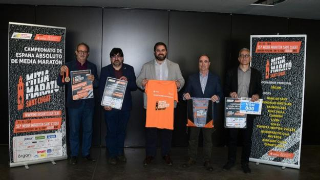 La Mitja Marató s'ha presentat aquest dilluns a la Sala de Plens / Font: Localpres
