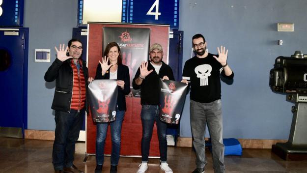 Pep Tugues, Sílvia Solanellas i els codirectors Marc Carreté i JR Armadàs / Foto: Localpres