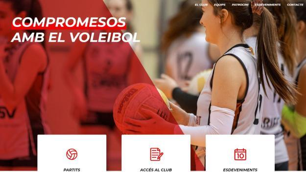 Aspecte de la nova web del club / Foto: Voleibol Sant Cugat