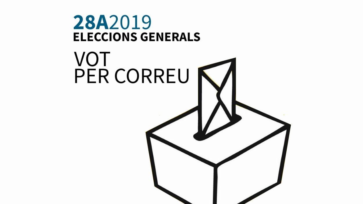 Últimes setmanes per sol·licitar el vot per correu a les eleccions del 28-A
