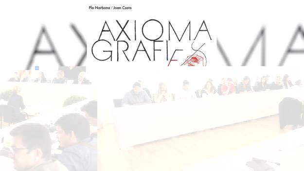 Presentació de llibre: 'Axiomagrafies 2', de Pla-Narbona i Joan Costa