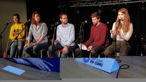 Els joves de les candidatures sobiranistes de Sant Cugat reflexionen sobre com assolir la independència