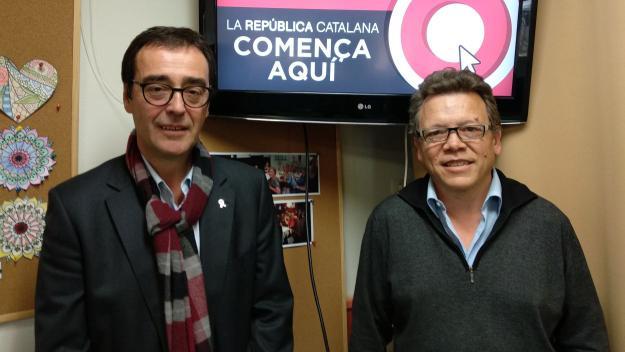 El candidat de Primàries Sant Cugat, Joan Recasens, i el de Primàries Valldoreix, Francesc Cardoner / Foto: Cugat.cat