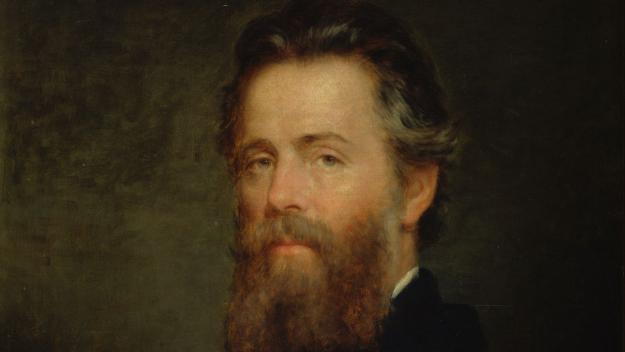 Herman Melville, en un retrat de Josep Eaton