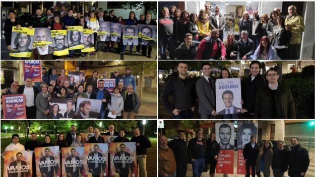 Els polítics han penjat els primers cartells / Foto: Cugat.cat