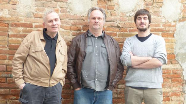 D'esquerra a dreta: Simon Wynne-Hughes, Don Murray, Nacho Ferrer / Foto: Cugat.cat