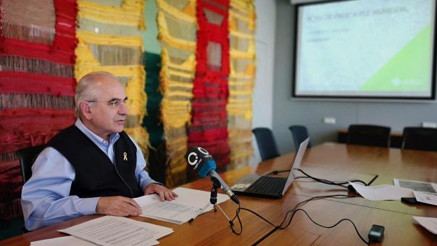 El tinent d'alcalde de Territori, Joan Puigdomènech, en roda de premsa / Foto: Premsa Ajuntament