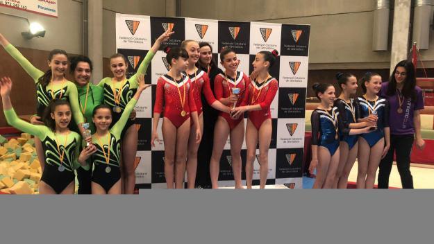 El Club Artística Sant Cugat suma dos podis a la tercera fase de la Copa Catalana