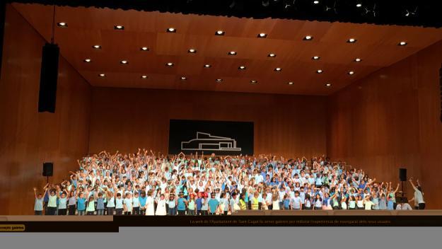 La Cantata Infantil de Sant Cugat torna a omplir de gom a gom el Teatre-Auditori