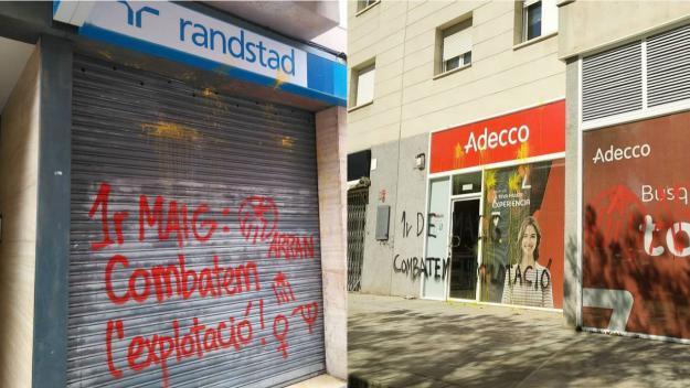 Arran pinta les seus a Sant Cugat d'empreses de treball temporal contra 'l'explotació'