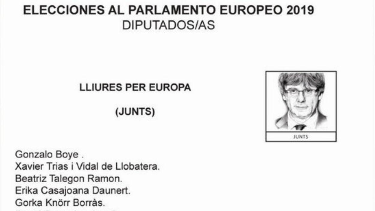 Bicman posa la cara de Puigdemont a les paparetes de JxCat a les eleccions europees