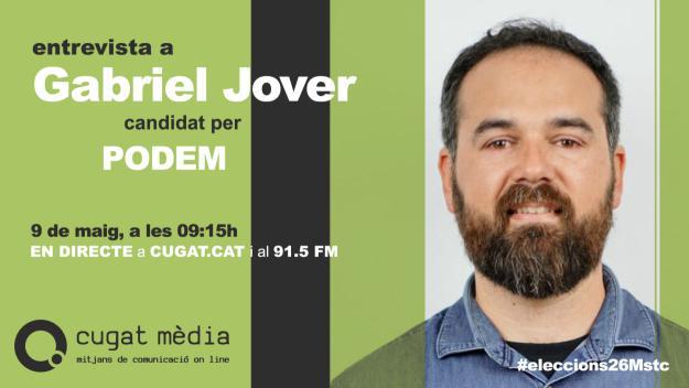 Gabriel Jover de Podemos protagonitza aquest dijous la segona entrevista electoral de Cugat.cat