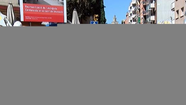 Tall de trànsit a partir de dijous a l'avinguda de Cerdanyola per les obres de vianantització