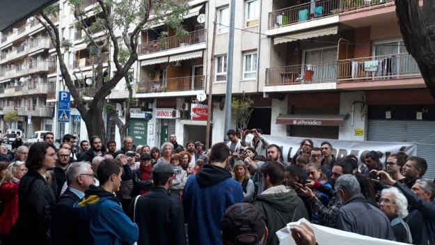 Suport als investigats pel tall de vies durant la vaga del 21-F