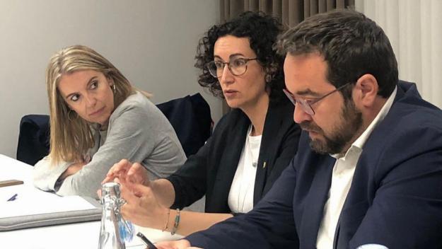 L'alcaldable d'ERC-MES visita Marta Rovira a Ginebra