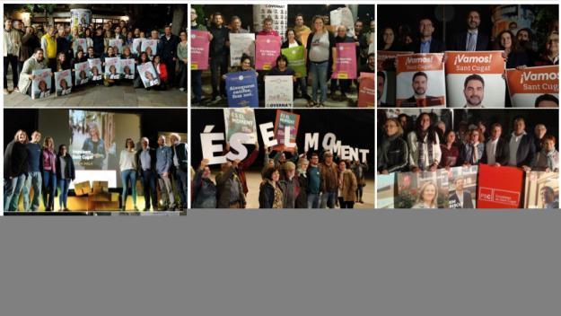 Els carrers de Sant Cugat ja llueixen de campanya pel 26-M