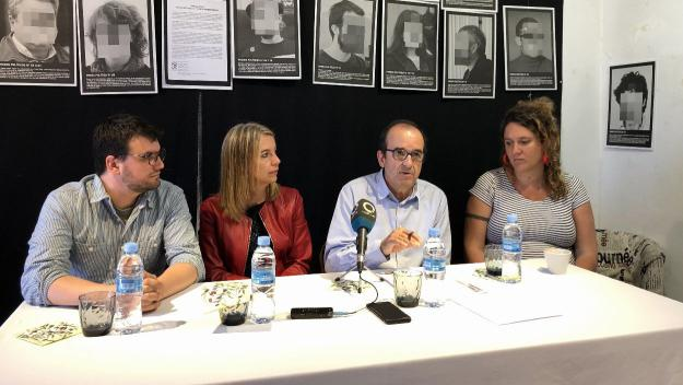 Ramon Gutiérrez, Mireia Ingla, Xavier Humet i Núria Gibert en roda de premsa / Foto: Cugat.cat