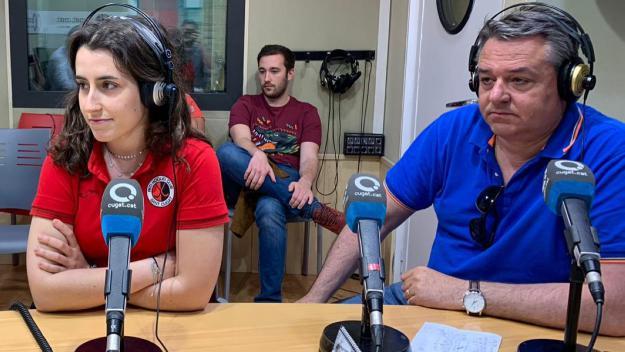 Laura De los Santos i Gus De los Santos al programa Esport en Marxa / Font: Cugat.cat