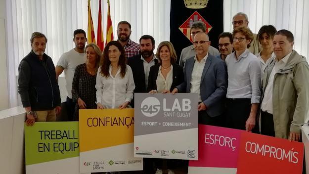 Presentació del conveni entre SantCugatCreix i Blanquerna-Universitat Ramon Llull / Font: Cugat.cat