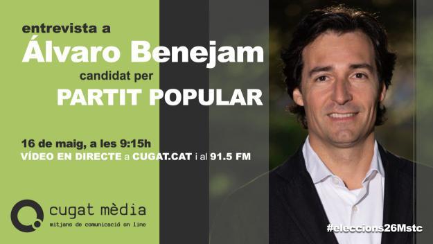 El candidat popular passa pel plató / Foto: Cugat.cat