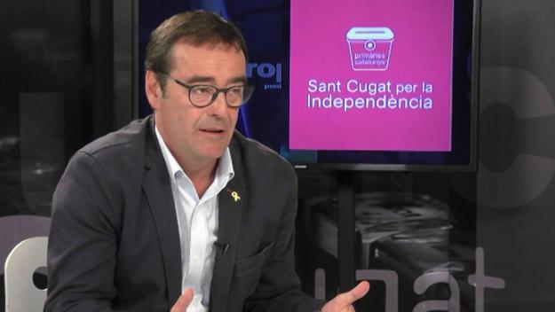 Joan Recasens durant l'entrevista / Foto: Cugat.cat