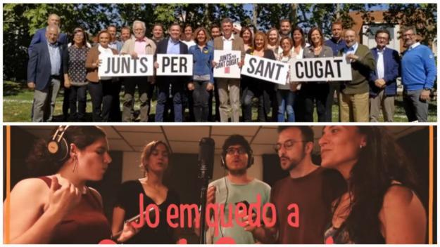 'Fem-ho junts' i 'Ens quedem a Sant Cugat', la música tenyeix la campanya electoral