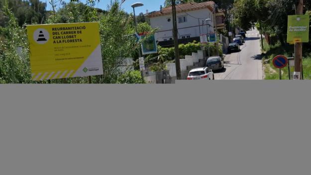 Comencen les obres de reurbanització del carrer de Can Llobet de la Floresta