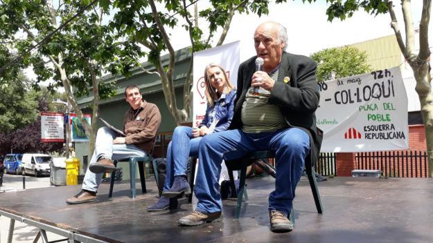 Francesc Duch (2) i Mireia Ingla (1) escolten Dionisio Giménez (17) / Foto: ERC