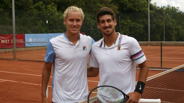 A la dreta, Orlando Luz, guanyador de l'ITF de Valldoreix / Font: Albert Riba