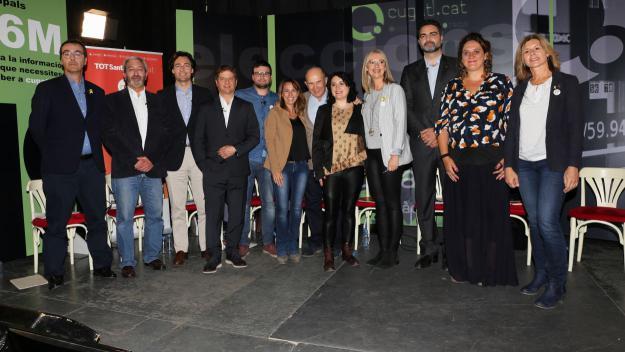 Els alcaldables, al debat / Foto: Lluís Llebot