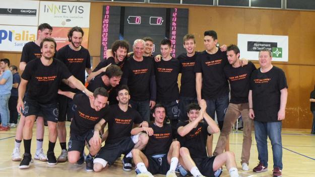 El primer equip del Qbasket ha pujat a Primera Catalana / Font: Qbasket Sant Cugat