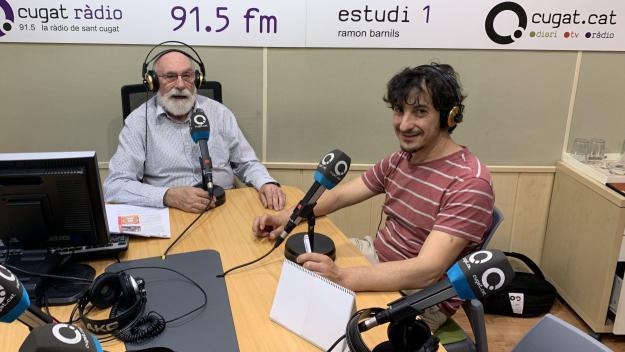 Roger Casadellà i el guardonat amb un Max Josep Maria Miró, al 'Molta Comèdia'