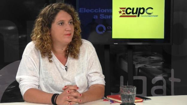 La portaveu cupaire, Núria Gibert, en una imatge d'arxiu / Foto: Cugat Mèdia