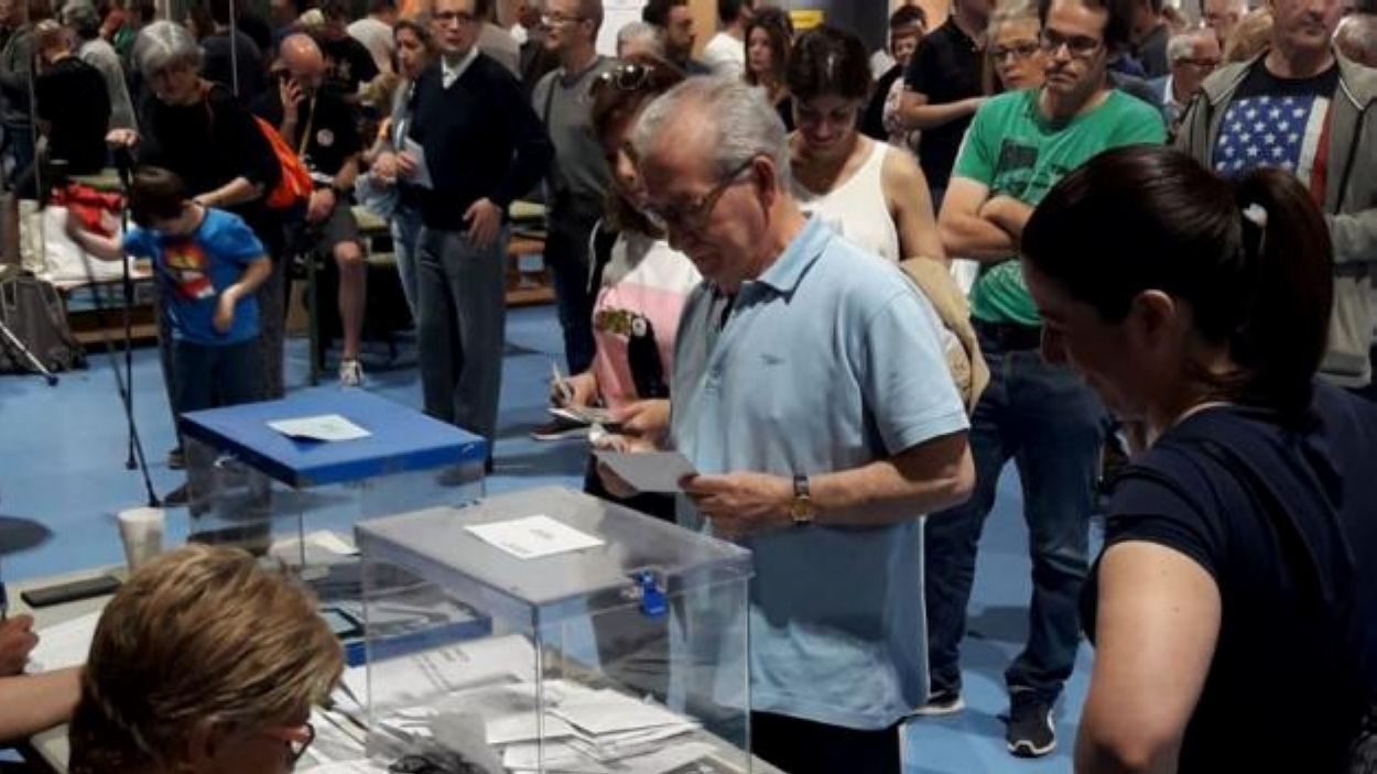 Imatge de les votacions el 26 de maig a Sant Cugat / Foto: Cugat Mèdia