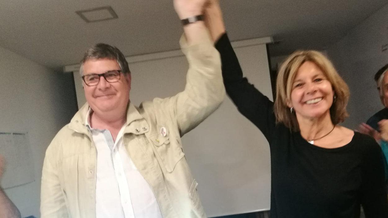 Josep Puig, amb Fortuny, revalida la presidència de l'EMD / Foto: Cugat Mèdia