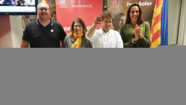 Els quatre regidors obtinguts pel PSC a Sant Cugat / Foto: Cugat Mèdia