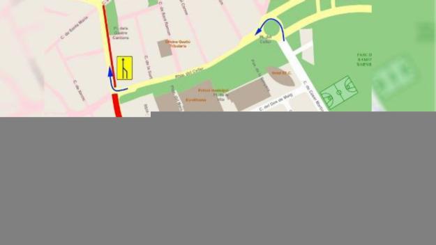 Talls de trànsit aquest diumenge a diversos carrers del centre de Sant Cugat per obres