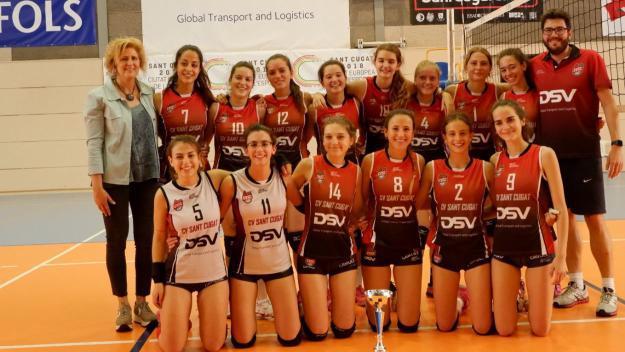 El juvenil bronze del DSV-Volei Sant Cugat, campió de Catalunya de Tercera