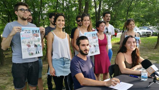 La roda de premsa s'ha fet on s'ubicarà la FMA / Foto: Cugat Mèdia