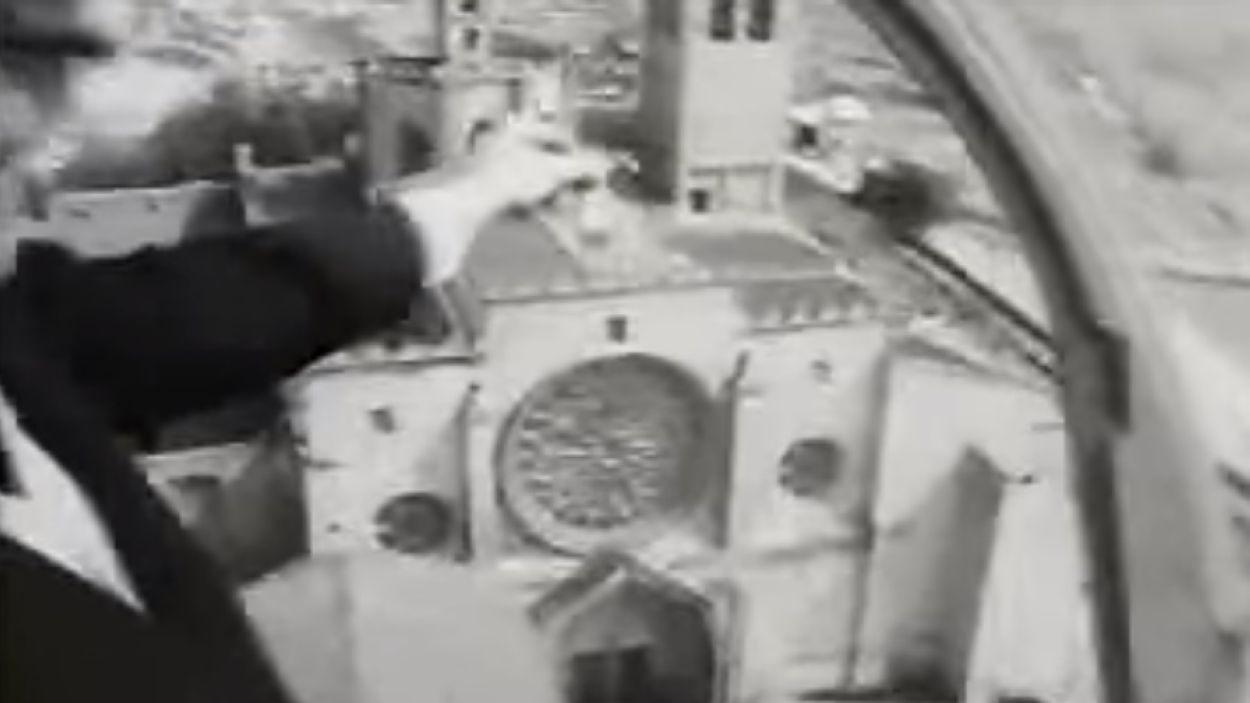 El Monestir de Sant Cugat, protagonista d'un anunci del 1967