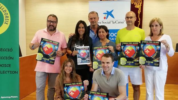 Presentació de la 7a ediició del torneig de pàdel solidari Força Miquel / Font: Cugat.cat