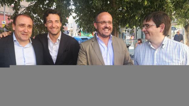 Serrano, Benejam, Fernández i el número 2, Alfredo Bergua / Foto: Cugat Mèdia