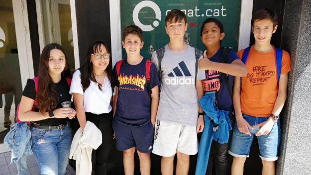 Els alumnes de l'optativa de ràdio de segon d'ESO de l'Institut Leonardo Da Vinci a Cugat Mèdia