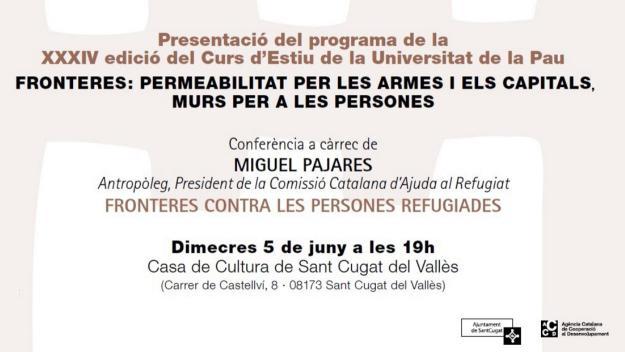 Presentació de la 34a edició del Curs d'Estiu de la Unipau