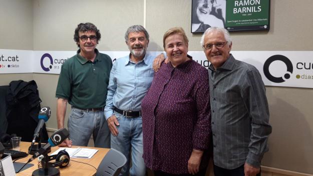 Dolors Vilarasau amb l'equip del Converses Consentides / Foto: Cugat Mèdia