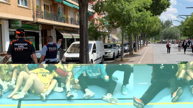 Lloc de l'incident / Foto: Cugat Mèdia