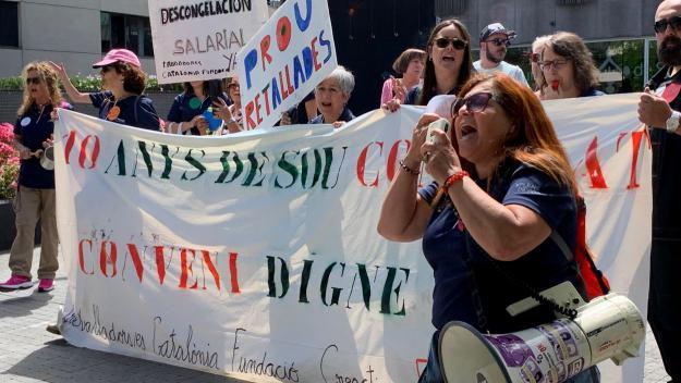Treballadors de Catalònia Fundació Creactiva exigeixen la 'descongelació salarial'