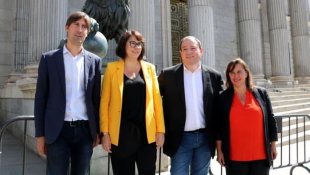 Riba promet portar el 'veto' de Junqueras, Puigdemont i Comín a les institucions europees