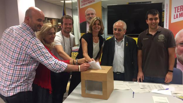 La portaveu de Juns ha estat elegida per unanimitat / Foto: Twitter Junts per Sant Cugat